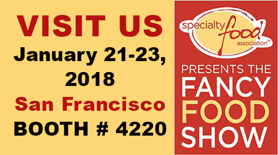 Visit us at the 2018 Winter Fancy Food Show