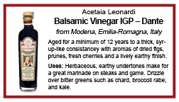shelf talker dante balsamic vinegar IGP