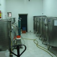 Stainless steel tanks.