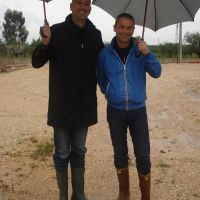 Rolando & Gaetano on a rainy day in Puglia.