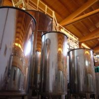 Tini, the tanks where the vinegar ferments.