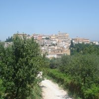 View of the small town Penne in Abruzzo, Italy