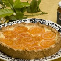 A delicious tart made with San Giuliano candied oranges and marmalade.