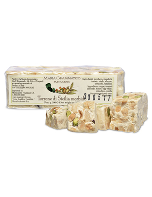 Torrone with Almonds & Pistachios