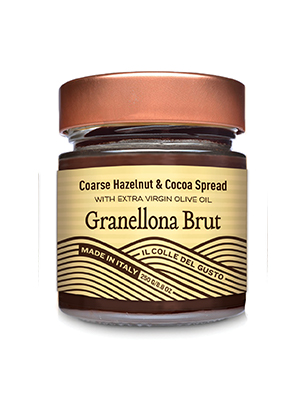 Coarse Hazelnut Chocolate Spread with Extra Virgin Olive Oil