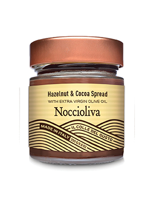 Smooth Hazelnut Chocolate Spread with Extra Virgin Olive Oil